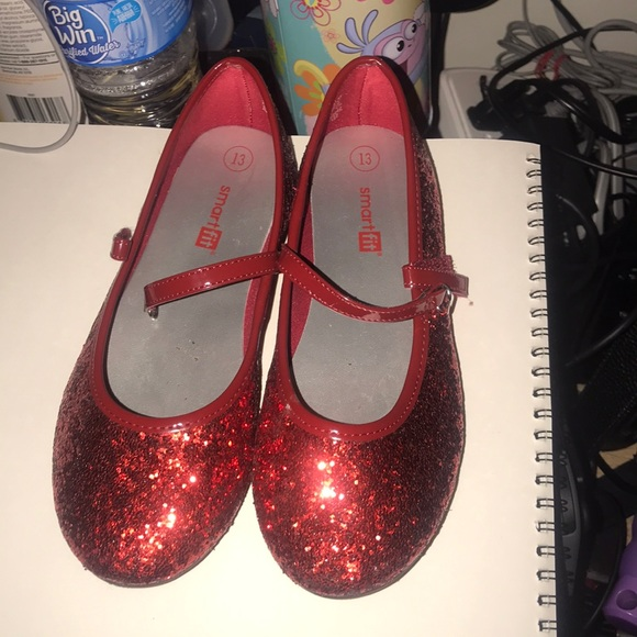 Payless Shoes | Red Sparkly Flats